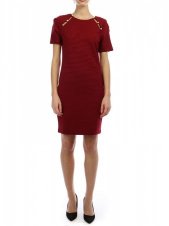Robe Bordeaux avec perles JUS AND CO, image 02