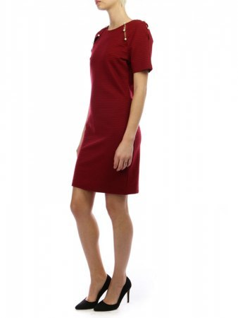 Robe Bordeaux avec perles JUS AND CO, image 03