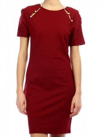 Robe Bordeaux avec perles JUS AND CO