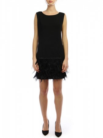 Robe volant plumes Noires JUS AND CO