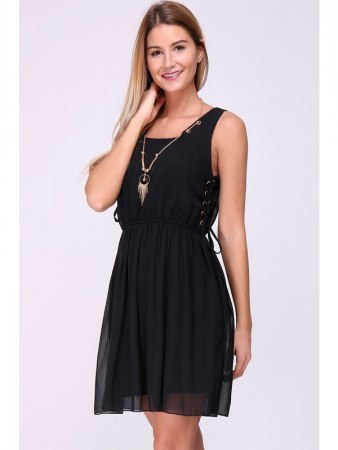 Robe noire JIALY MODE Bijoux inlcus