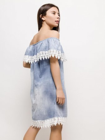 Robe Bleue clair RZ FASHION, image 02