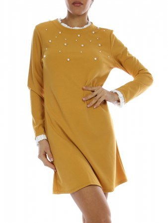 Robe courte color Camel ZAFA