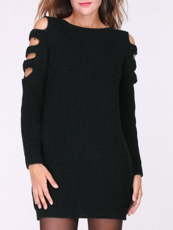 Robe Pull Noire MAGALIE, image 02