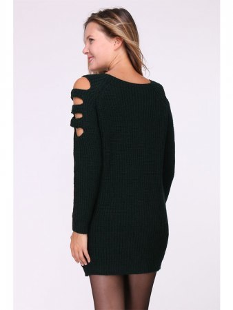 Robe Pull Noire MAGALIE, image 03