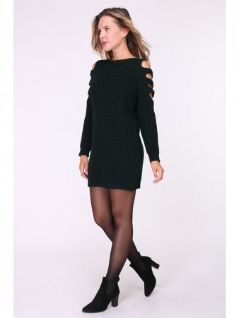 Robe Pull Noire MAGALIE, image 04