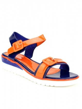 Sandale Bi colors Orange and Royal , image 02