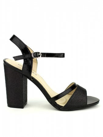 Sandales Noires pailletées ML SHOES
