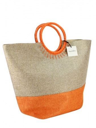 Sac Bi Color Orange Mode Rafia SUN, image 02