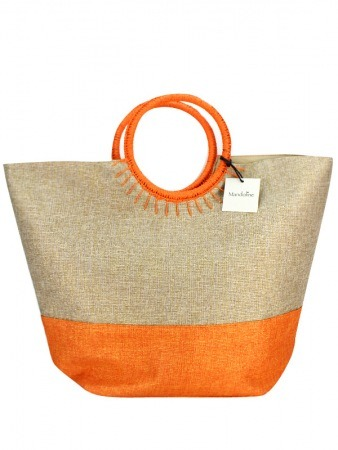 Sac Bi Color Orange Mode Rafia SUN