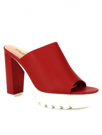 Mule Fashion Rouge STEPHAN, image 02