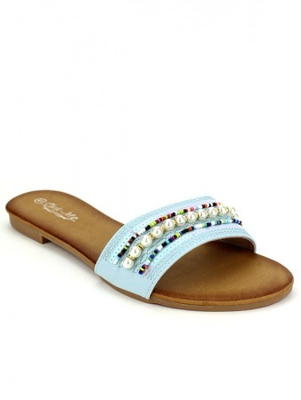 Sandale Blue PERLES CINKS