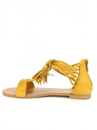 Sandale simili cuir CH CREATION Color Moutarde, image 03