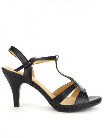 Sandale BELLELI Croco Black