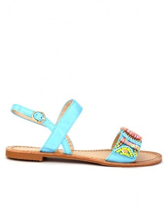 Sandale Color Turquoise BO'AIME