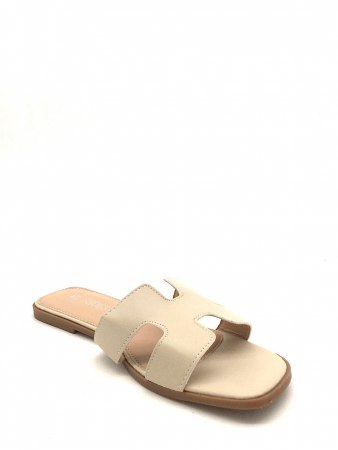 Mules Grande Taille Beige ML SHOES