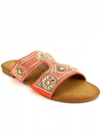 Sandale Orange color perles CINKS, image 02