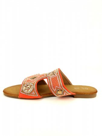 Sandale Orange color perles CINKS, image 03