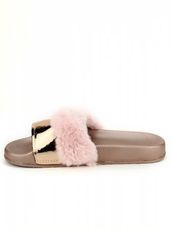 Mule FASHION Fourrure Pink verni, image 03
