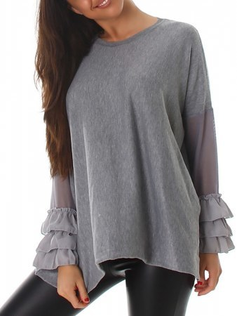 Pull Color Gris LOUISA