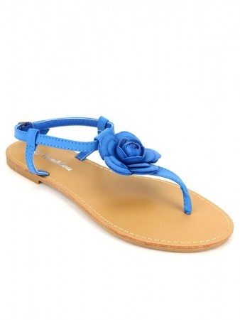 Tongs Bleues royal Rosa FDM