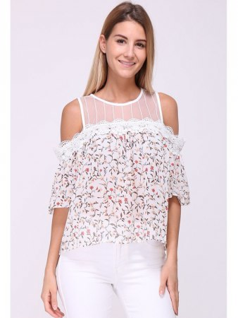 Blouse Rose FLOWERS