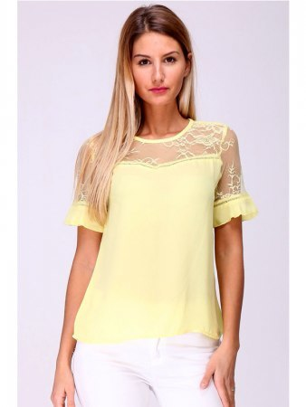 Top Jaune INTEMPORELLE