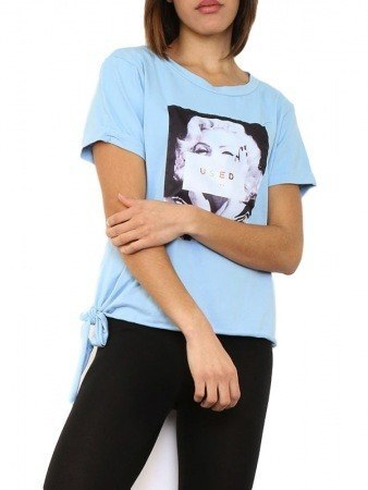 Top Bleu clair Marilyn LUXESTAR