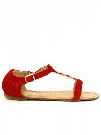 Tong Rouge CINKS ME simili peau , image 02