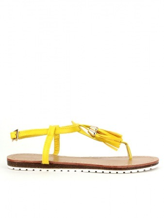 Tongs Jaune TOM & EVA Franges