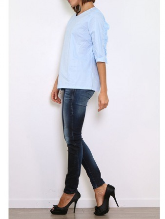 Blouse bleu ciel WHY NOT, image 04