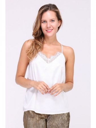 Blouse Blanc Satin NIGHTIE