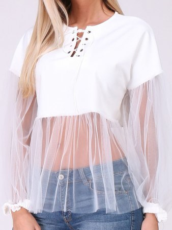 Top Blanc Tulle MELIE, image 02