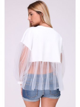 Top Blanc Tulle MELIE, image 03