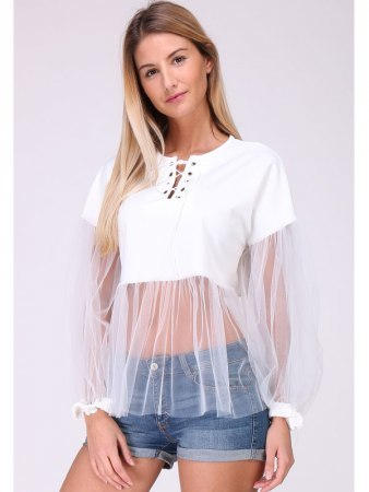 Top Blanc Tulle MELIE