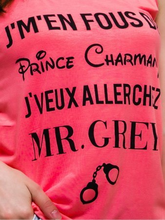 Top Rose Fluo avec inscription RZ FASHION, image 03