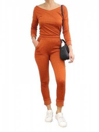 Ensemble Orange Top+Jogging