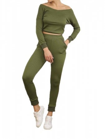 Ensemble Kaki Top+Jogging