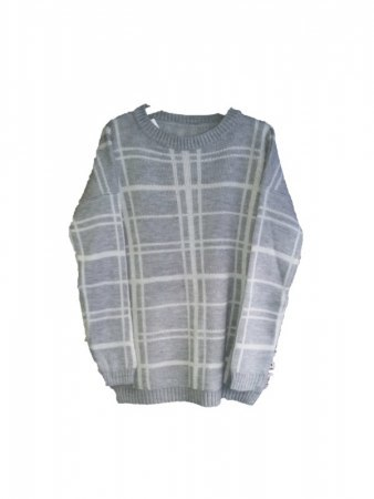 Pull Gris à carreaux