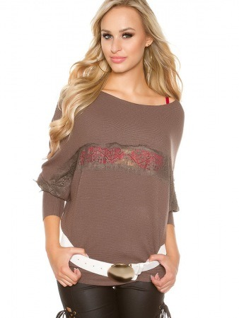 Tunique pull taupe CLEMA