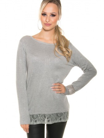 Tunique Pull Gris LEISA