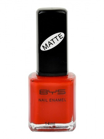 Vernis à Ongles Rouge Mat BYS